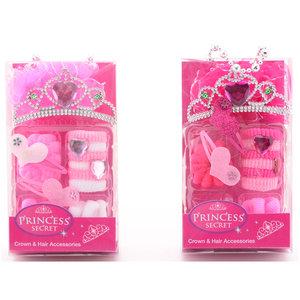 Princess Secret Kroontje met Haar-Accessoires Assorti