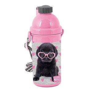 Studio Pets Drinkbeker puppy met roze hartjes bril