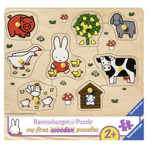 Ravensburger Houten Puzzel Nijntje op de Boerderij 8 Stukjes