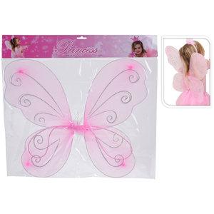 Princess Accessoires Roze Vleugels 50x47 cm