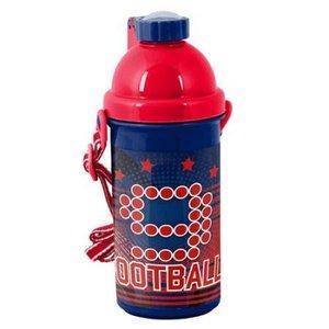 Voetbal - Drinkbeker 500 ml  nr 9 -Rood met Blauw