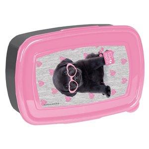 Studio Pets broodtrommel puppy met roze hartjes bril