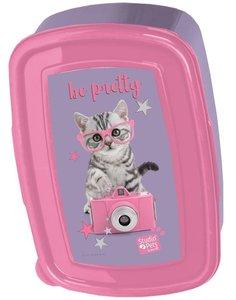 Studio Pets - Broodtrommel Kat met bril - Roze