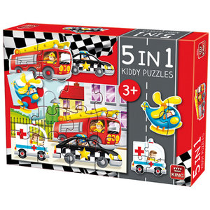 King 5-in-1 Puzzel Auto's