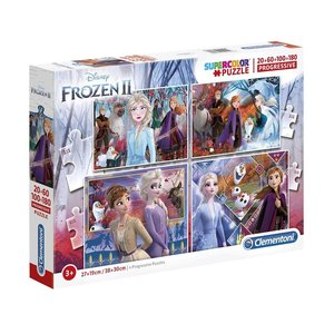 Clementoni Disney Frozen 2 Supercolor Puzzel 20-60-100-180 Stukjes