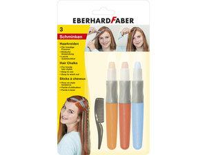Eberhard Faber EF-579201 Haarkrijt 3 Stuks Oranje Rood Blauw