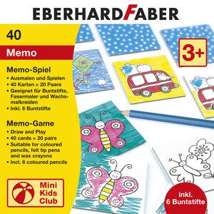 Eberhard Faber EF-579942 Memory Spel Inclusief 6 Kleurpotloden