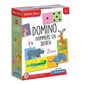 Clementoni Spelend Leren Domino Nummers en Dieren