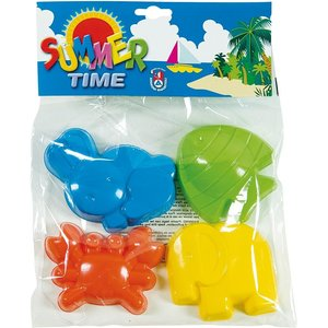 Androni Summer Time Zandvormpjes Dieren 4 Stuks