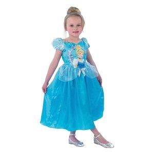 Disney Princess Assepoester Verkleedjurk Maat 112/128 Blauw