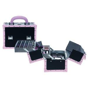 Make-Up Koffer Zwart/Roze