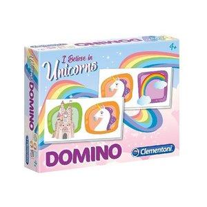 Clementoni Domino Unicorn met 28 Kaarten
