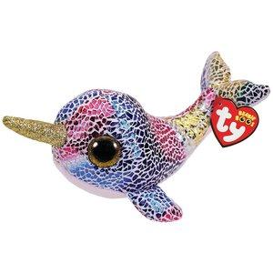 TY Beanie Boo's Narwal Walvis Knuffel Nova 42 cm