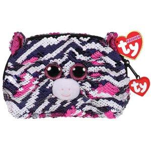 TY Fashion Handtas Zebra Zoey 20 cm Zwart/Wit/Roze