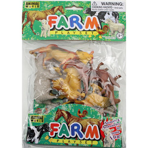 Animal World Farm Boerderijdieren 8 stuks