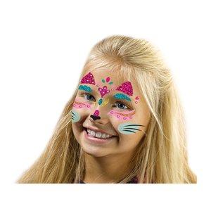 SES Crestive Fashion Glitter Gezicht-Tattoo Kat