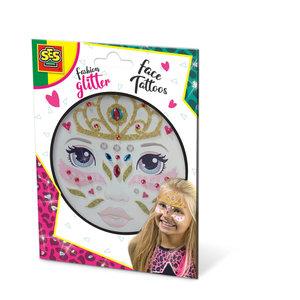 SES Creative Fashion Glitter Gezicht Tattoo Prinses