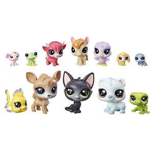 Hasbro Littles Pet Shop 12 Diertjes met 3 Verrassingsdiertjes Assorti
