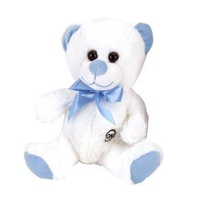 Pluche Knuffelbeer met LED-Licht 35 cm Blauw/Wit