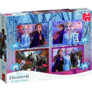 Jumbo 4in1 Puzzel Disney Frozen 2 12-20-30-36 Stukjes