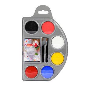 Schmink Waterbasis 6 Kleuren