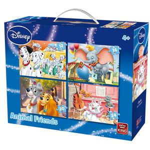 King 4in1 Puzzel Disney Animal Friends 12-24 Stukjes