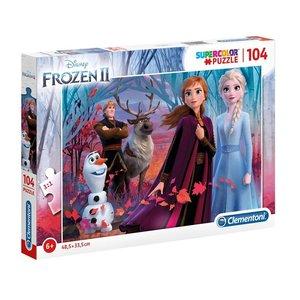 Clementoni Disney Frozen 2 Supercolor Puzzel 104 Stukjes