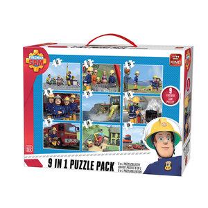 King 9in1 Puzzel Brandweerman Sam 12-50 Stukjes