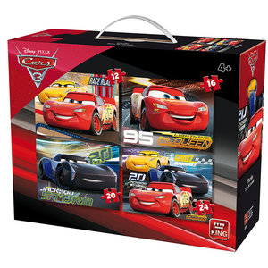 King Cars 3 4in1 Puzzelset