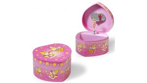 Simply for Kids Houten Juwelendoosje Hartvorm met Muziek en Ballerina