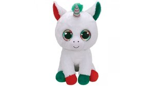 TY Boo's Kerts Eenhoorn Knuffel Candy 42 cm