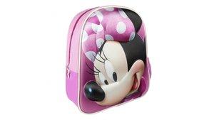 Disney Minnie Mouse 3D Rugzak 25x31x10 cm Roze/Paars
