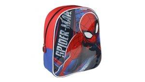 Spiderman Rugzak met Tekenbord + 2 Markers 25x31x10 cm Rood/Blauw