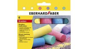 Eberhard Faber EF-526506 Stoepkrijt 4-kantig 6 Kleuren
