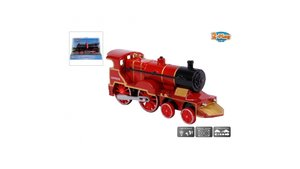 2-Play Traffic Metalen Pull Back Locomotief met Licht en Geluid Assorti