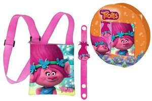 Trolls - Cadeauset - Poppy - Schoudertas - Armband