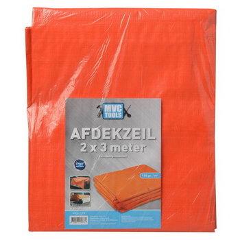Bouwzeil/afdekzeil 2x3 meter Oranje