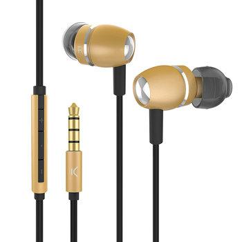 Ksix - Go en Play Sky Koptelefoon Stereo - Goud aluminium