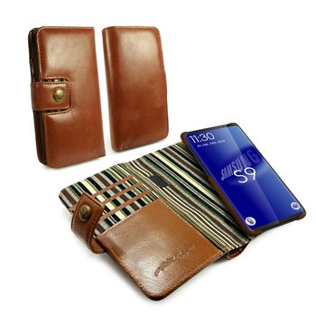 Alston Craig - Leren Portemonnee Hoesje - Samsung Galaxy S9 Plus - RFID Blocking - met Screenprotect