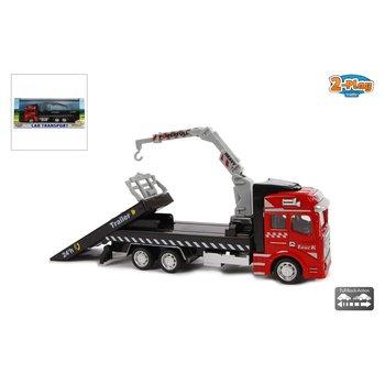 2-Play Traffic Pull-Back Autotransporter 19 cm