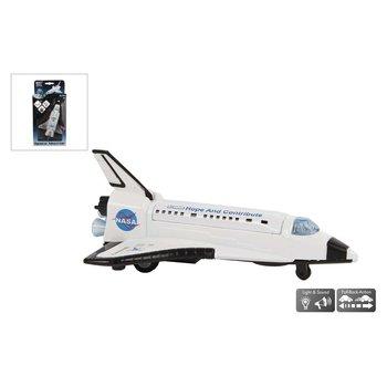 Pull-Back Space Shuttle met Licht en Geluid 14 cm