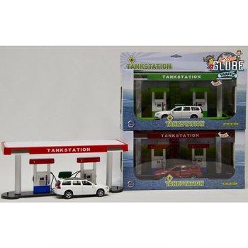 Kids Globe Traffic Tankstation met Volvo V70 Assorti
