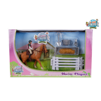Kids Globe Paarden Speelset Paard met Ruiter + Accessoires