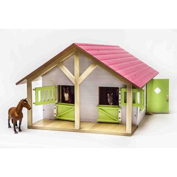 Kids Globe Houten Paardenstal + 2 Boxen + Berging 51x40.5x27.5 cm