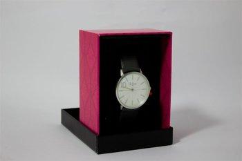Di Lusso dames horloge - Zwart met diamantjes