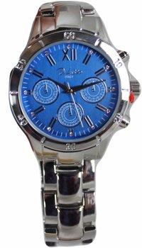 Di Lusso dames horloge - Zilver/blauw
