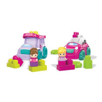 Mega Bloks Kleine Voertuig + Figuur Roze Assorti