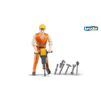 Bruder 60020 Constructiemedewerker met Accessoires