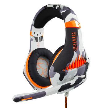 Phobos Winter Warrior gaming headset - Multiformat (PS4/PC/Switch) - 3.5 mm jack - Wit - Camo Grijs - Oranje