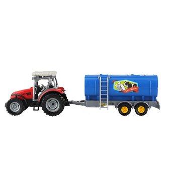 Dutch Farm Tractor met Trailer 1:32